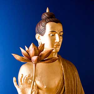 Buddha statue at Manchester Buddhist Centre