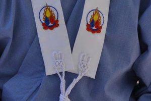 Ordination: Kesa with Triratna Three Jewels