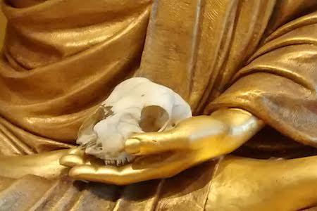 Lotus Hall Buddha with Skull