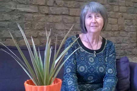 Barbara: Woman Volunteer with Plant