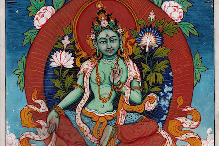 Female Buddha Green Tara