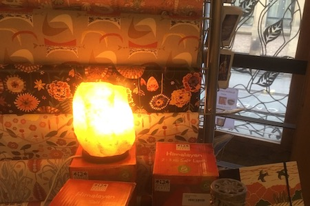Lamps and Wrapping Paper in Shop