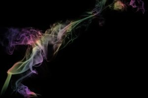 Green Yellow Pink Smoke Wallpaper.