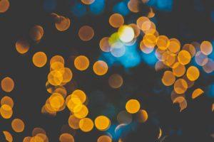 AAbstract bokeh light at night