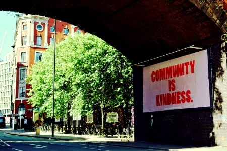 Community is Kindness billboard