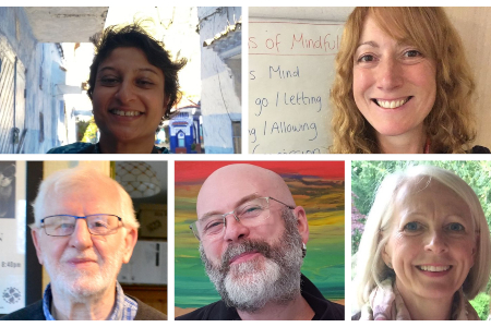Ordinands 2020 - Sundeep, Claire, Alex, Michael, Lynne Marie
