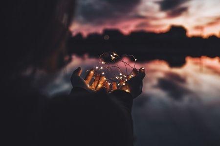 Lady Holding Lights