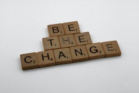 Be The Change Scrabble Tiles