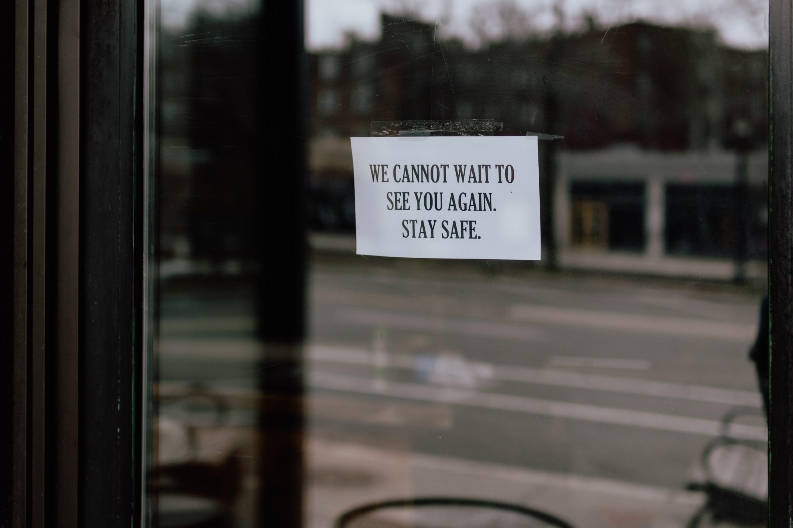 Closed note in window