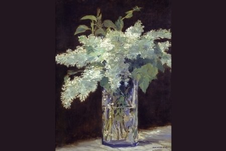 Painting of Lilacs by Manet