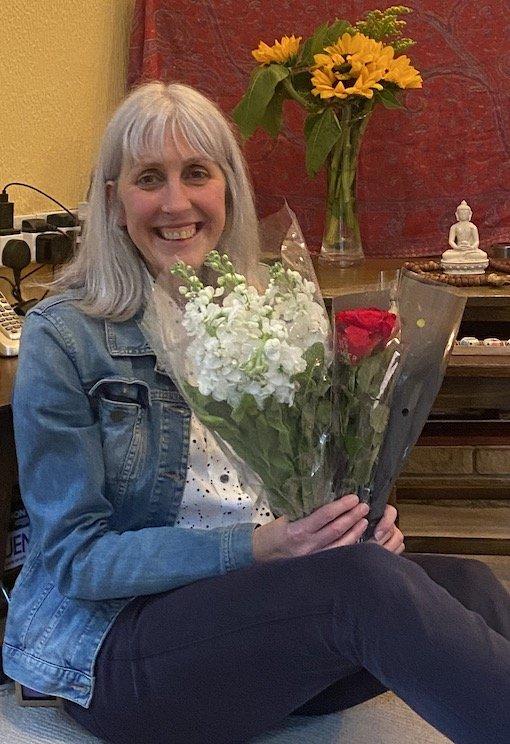 Karen - woman with flowers