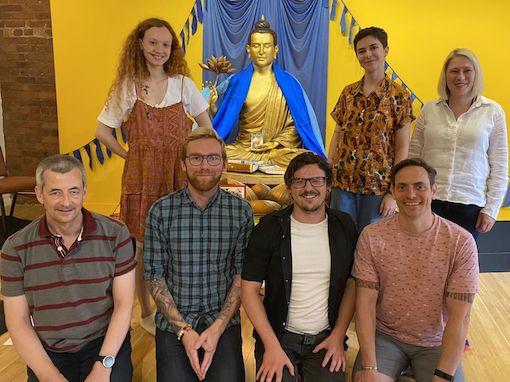 Ellen, Juliette, Lizzy, Michael, Stephen, Dean, Ivan at shrine
